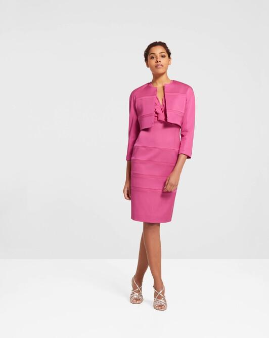 Stretch-ottoman jacket - Pink