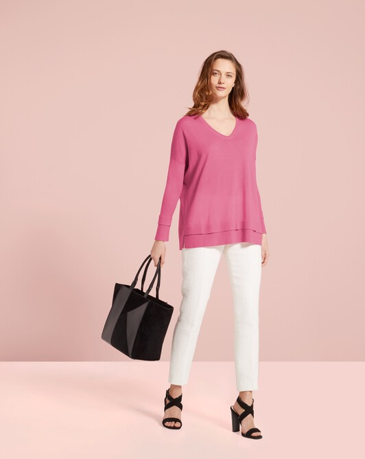 Merino wool sweater - Pivoine