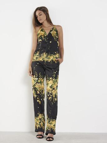 Twill pants - Noir / mimosa