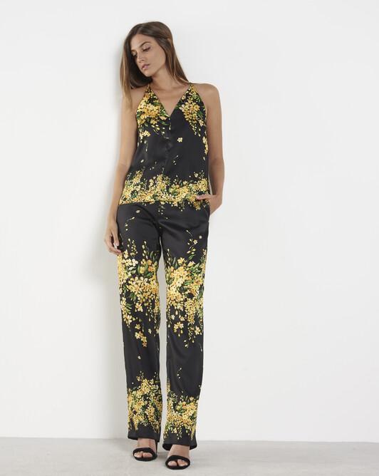 Pantalon en twill - Noir / mimosa