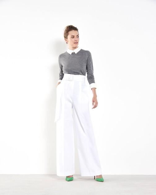 Pantalon large en coton