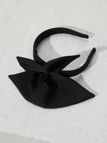 Serre tête en ottoman stretch - Noir
