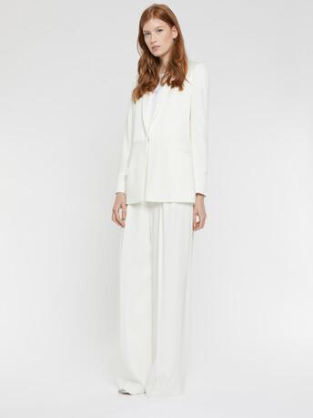 Satin-back crepe pants - Off white