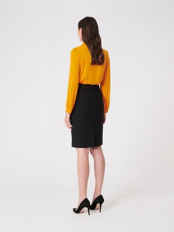 Stretch-charmeuse shirt - Mangue