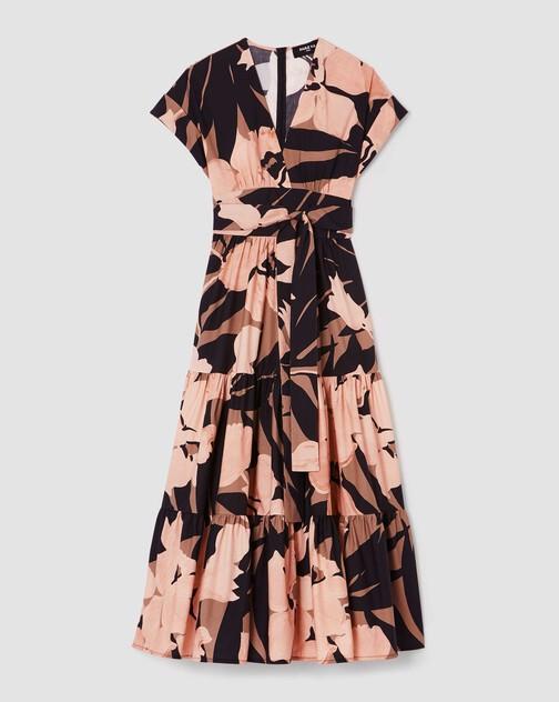 Print poplin dress