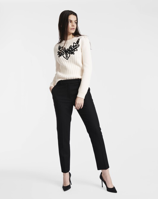Cornely embroidery sweater - Naturel / noir