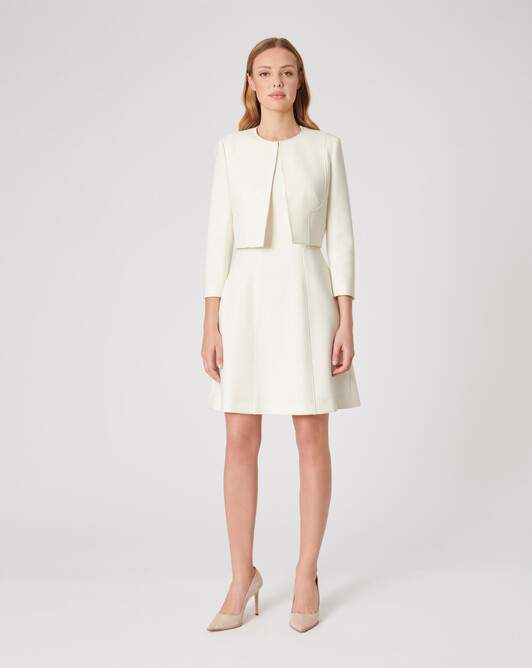 Stretch-tricotine jacket - Off white