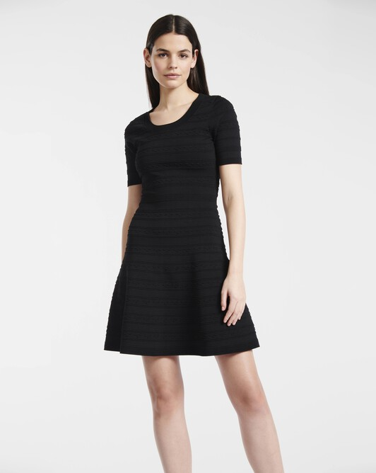 Dress in fancy viscose - Noir