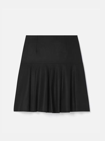 Jupe en drap de laine - Noir