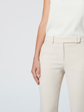 Satin-back crepe pants - Coquille