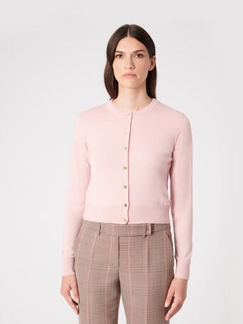 Merino wool cardigan - Rose pale