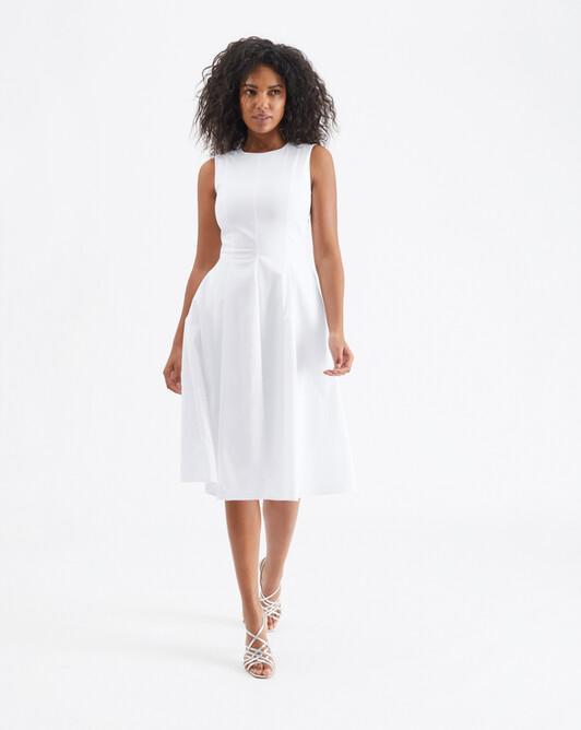 Cotton-poplin dress - White