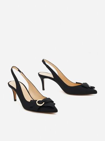 Sandales en ottoman - Noir