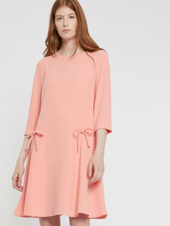 Satin-back crepe dress - Eau de rose