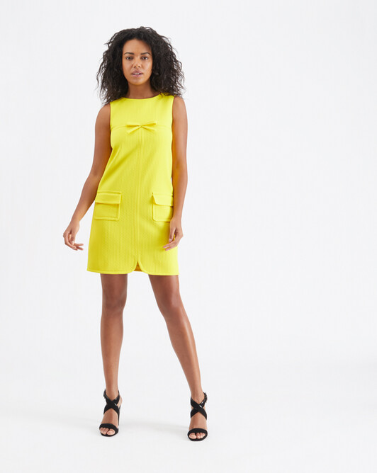 Cotton-piqué dress - Citron
