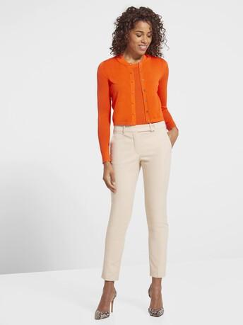 Cardigan classique en soie et coton - Orange