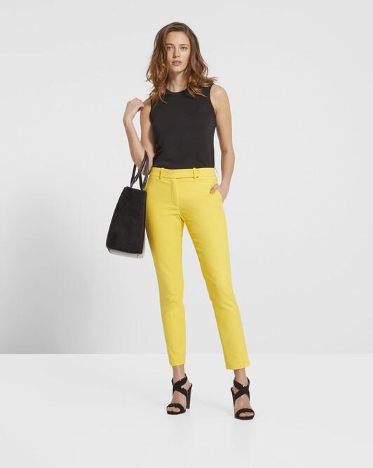Pantalon en tricotine de coton stretch - Mimosa