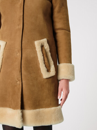 Shearling coat - Camel