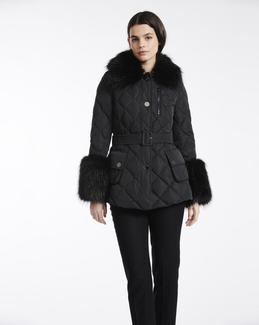 Manteau en taffetas - Noir