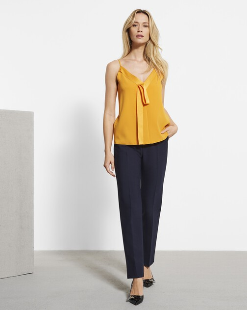 Stretch tricotine trousers