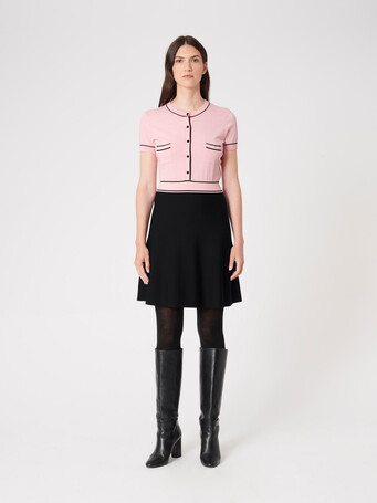 Cotton dress - Candy pink / noir