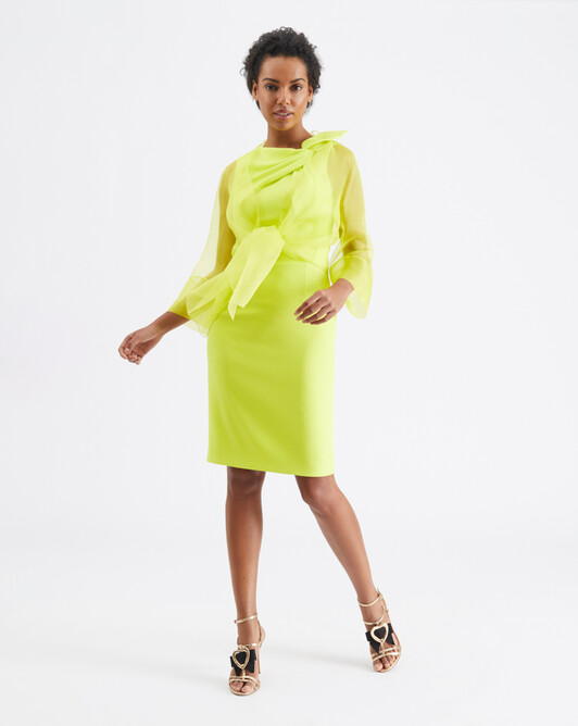 WOVEN SUIT JACKET - Lime