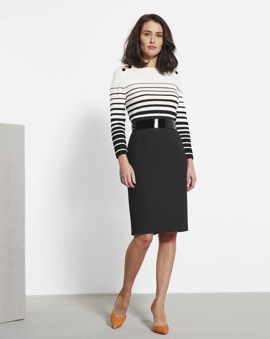 Stretch tricotine skirt - Noir