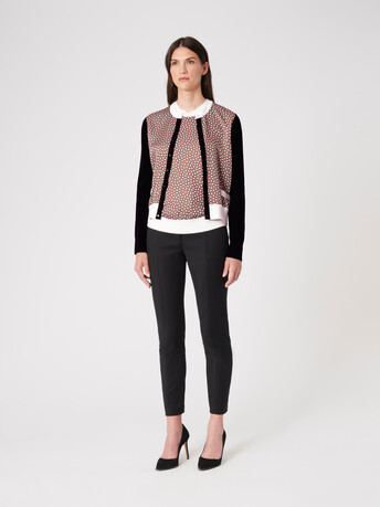 Silk and cotton cardigan - Taupe