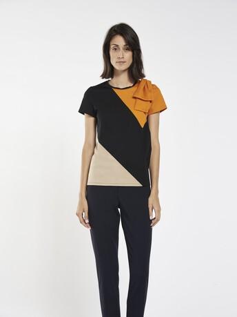 T-shirt en jersey de coton stretch - multicolore