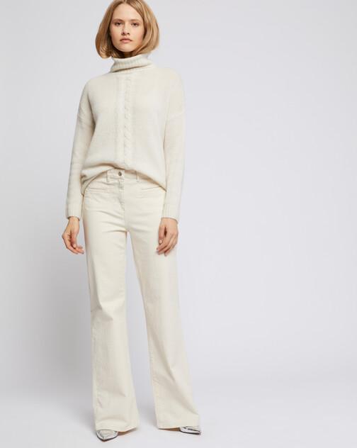 Jeans flare en coton stretch