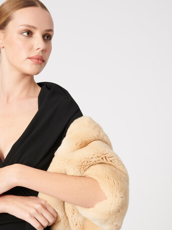 Veste en lapin - Coquille