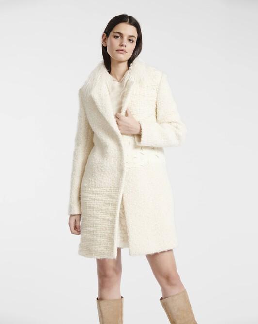 Snow-white tweed coat - Naturel