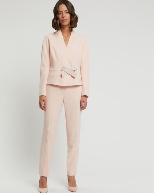 Satin-back crepe jacket