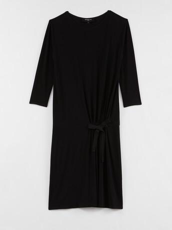 Fluid jersey dress - Noir