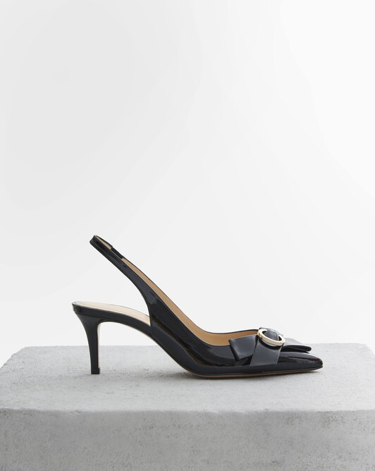 Patent leather court shoes - Noir
