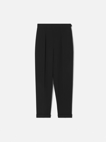 Satin-back crepe trousers - Noir