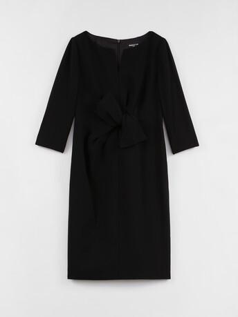 Robe en crêpe envers satin - Noir