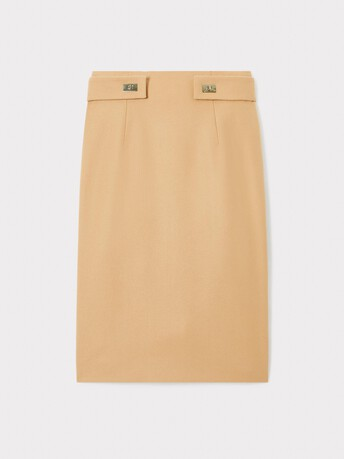 Wool skirt - Camel