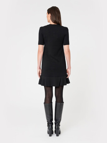 Merino wool dress - Noir