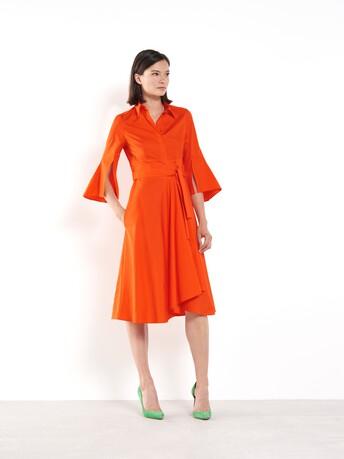 Robe en popeline de coton - Orange