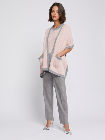 Wool and cashmere scarf - Poudre / souris