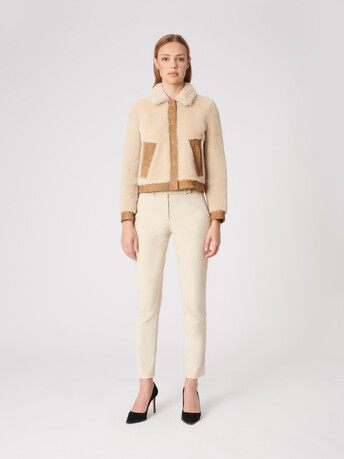 Shearling jacket - Naturel