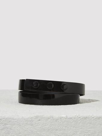 Patent-leather belt - Noir