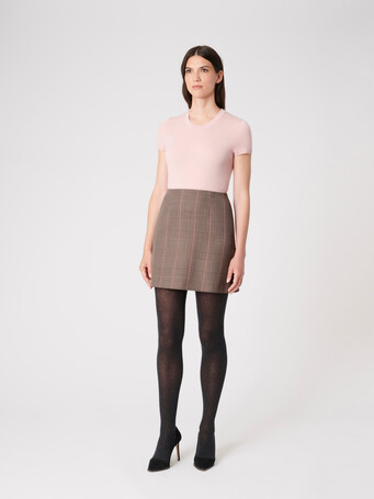Prince of Wales checked jacquard skirt - Multicolore