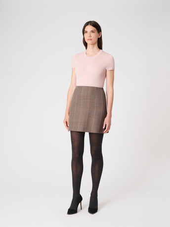 Prince of Wales checked jacquard skirt - multicolor