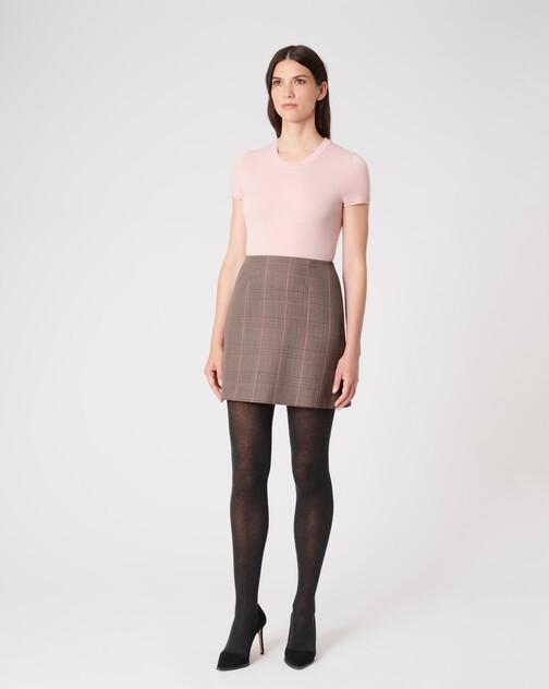 Prince of Wales checked jacquard skirt