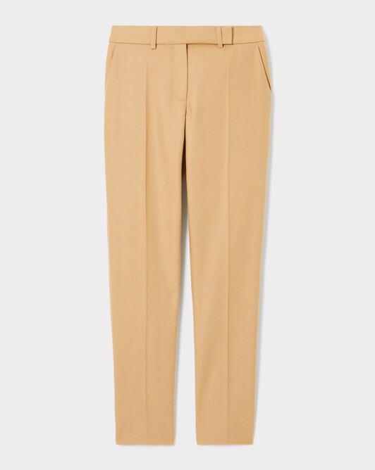 Pantalon en drap de laine - Camel