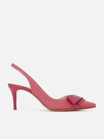 Escarpins en ottoman stretch - Pink