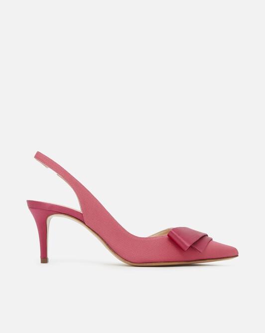 Stretch ottoman pumps - pink