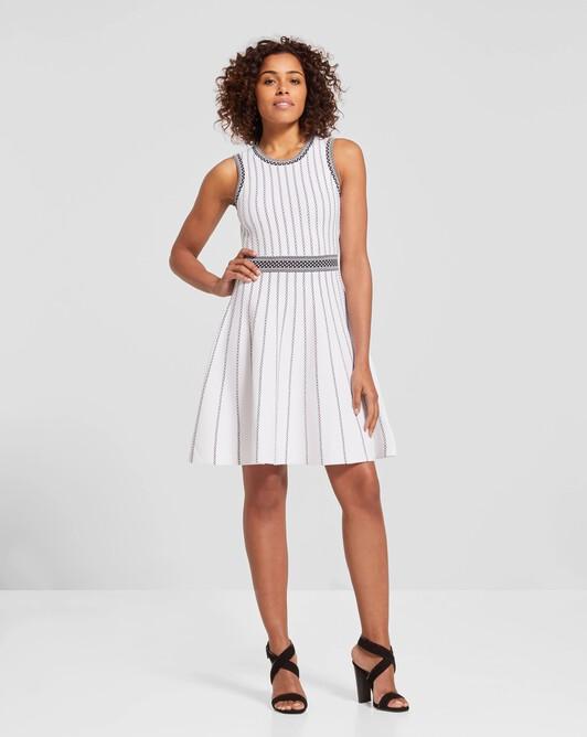 Viscose dress - White / black